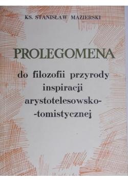 Prolegomena do filozofii przyrody inspiracji arystotelesowsko-tomistycznej