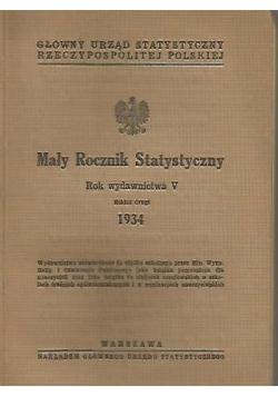 Mały rocznik statystyczny, 1934 r.