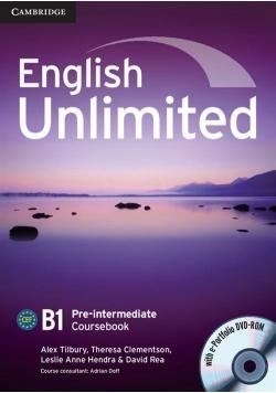 English Unlimited Pre-intermediate Coursebook + DVD