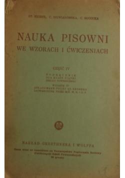 Nauka pisowni we wzorach i ćwiczeniach, 1937 r.