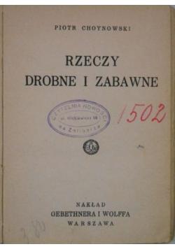 Rzeczy drobne i zabawne, 1930 r.