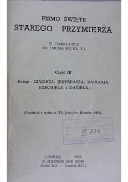 Pismo Święte Starego Przymierza, cz. III, 1945r.