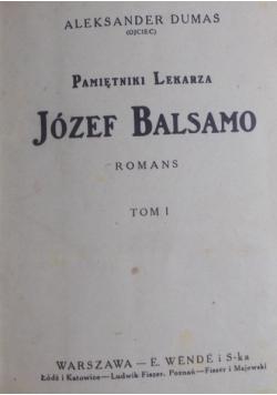 Pamiętniki lekarza. Józef Balsamo, Tom I-III, 1925r.
