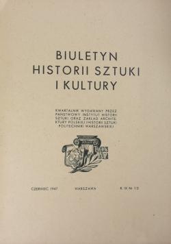 Biuletyn historii sztuki i kultury. Nr 1/2. 1947 r.