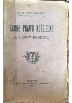Karne Prawo Kościelne w nowym kodeksie, 1918 r.