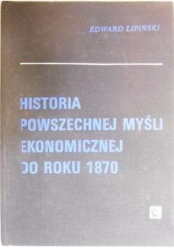 Historia powszechnej myśli ekonomicznej do roku 1870