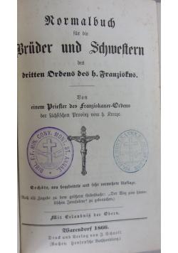 Normalbuch fur die Bruder und Schwestern, 1866 r.
