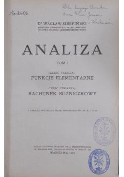 Analiza tom tom I, 1925 r