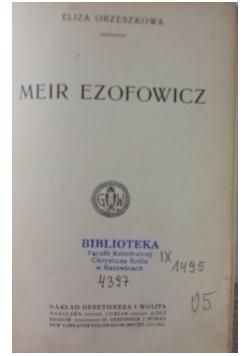 Meir Ezofowicz,1913r.