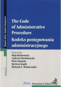 Kodeks postępowania administracyjnego wer. ang