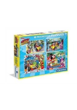Puzzle Mickey Raźni rajdowcy 20+60+100+180