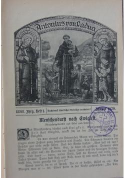 Antonius von Padva, 1921 r.