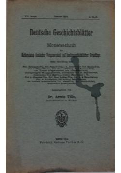 Deutsche Geschichtsblatter 4 , 1914r.