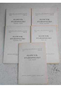 Słownik staropolski, 5 zeszytów
