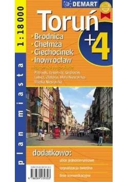 Plan Miasta Toruń plus 4   DEMART