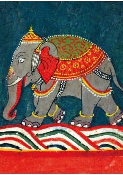 Karnet B6 z kopertą Caparisoned Elephant
