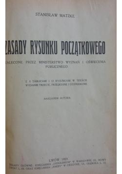 Zasady rysunku początkowego, 1923r