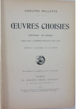 Oeuvres choisies, 1901 r.