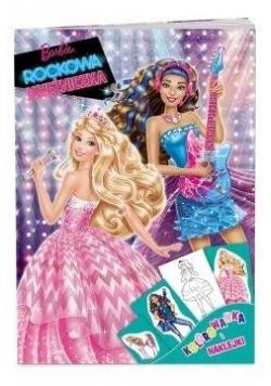 Kolorowanka i naklejki. Barbie. Rockowa...