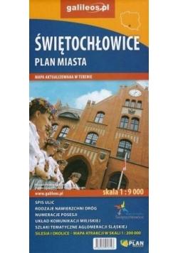 Plan miasta - Świętochłowice 1:9 000