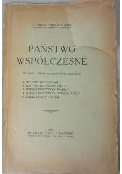 Państwo współczesne, 1922 r.