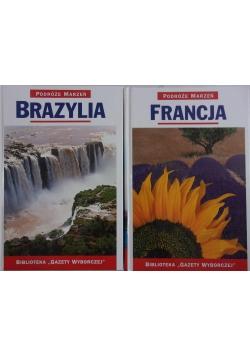 Podróże marzeń: Brazylia/ Francja, zestaw 2 książek
