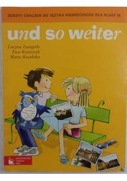 Zeszyt ćwiczeń do języka niemieckiego dla klasy IV