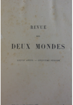 Revue des Deux Mondes, 1907 r.