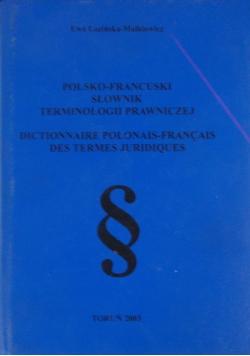 Polsko- francuski słownik terminologii prawniczej