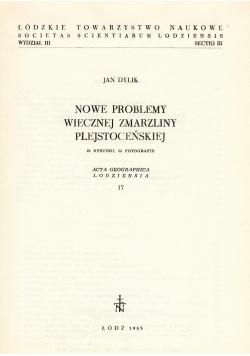 Nowe problemy wiecznej zmarzliny plejstoceńskiej