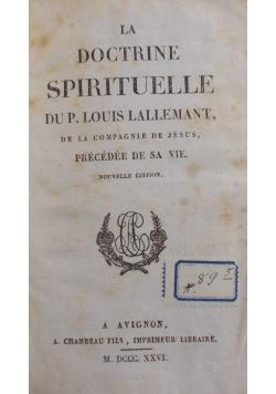 La doctrine spirituelle, 1826 r.