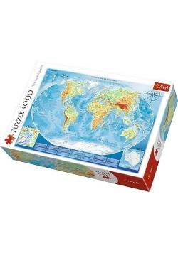 Puzzle 4000 Wielka mapa fizyczna świataTREFL