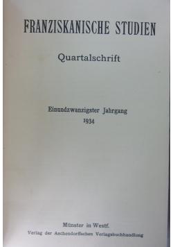 Franziskanische Studien, 1934r.