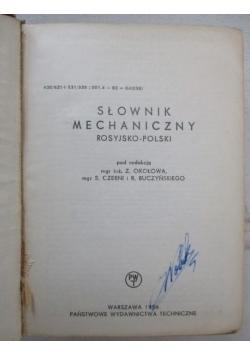 Słownik mechaniczny rosyjsko-polski