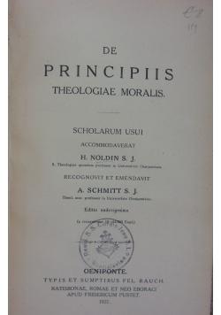 De Principiis Theologiae Moralis, 1927 r.