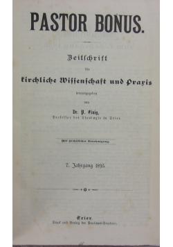 Pastor Bonus. Zeitschrift für kirchliche Wissenschaft und Praxis. 1895 r.