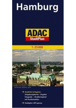StadtPlan ADAC. Hamburg 1:25 000 plan miasta