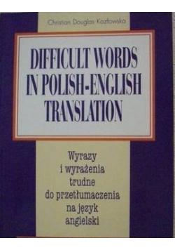 Difficult words in polish-english translation