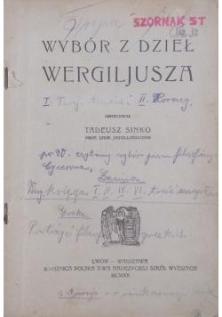 Wybór z dzieł Wergiliusza, 1920 r.