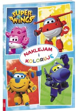Super Wings Naklejam i koloruję