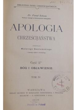 Apologia chrześcijaństwa, tom IV cz. II, 1905 r.