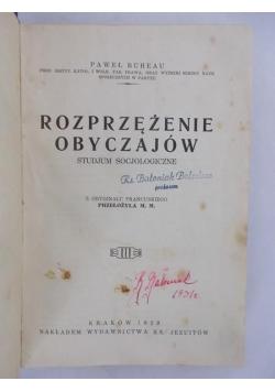 Rozprzężenie obyczajów. Studjum socjologiczne, 1929 r.
