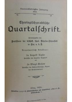 Theologisch praktische Quartalschrift, 1926r.
