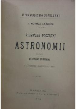 Pierwsze początki astronomii, 1894r.