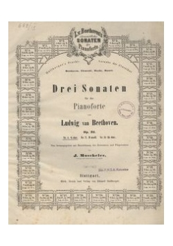Drei sonaten fur pianoforte, 1906 r.