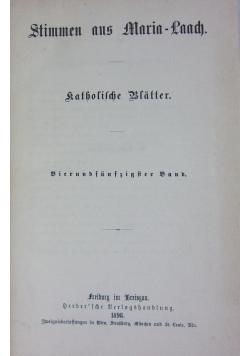 Stimmen aus Maria - Laach, 54 band, 1898 r.