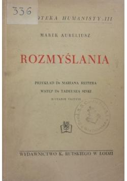 Rozmyślania, 1937r.
