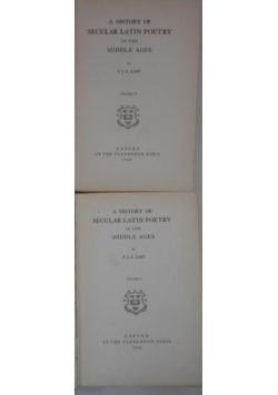 A History of Secular Latin Poetry, Tom I-II, 1934 r.