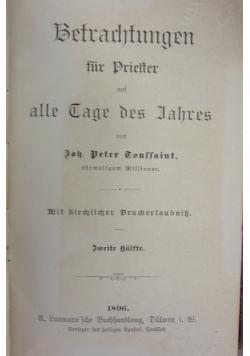Betrachtungen  fur Drielter alle Dage des Iahres 1896 r.