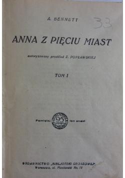 Anna z pięciu miast, tom I, 1924 r.